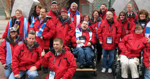 Group photo of Flame in Idaho for the 2009 Special Olympics Winter Games.