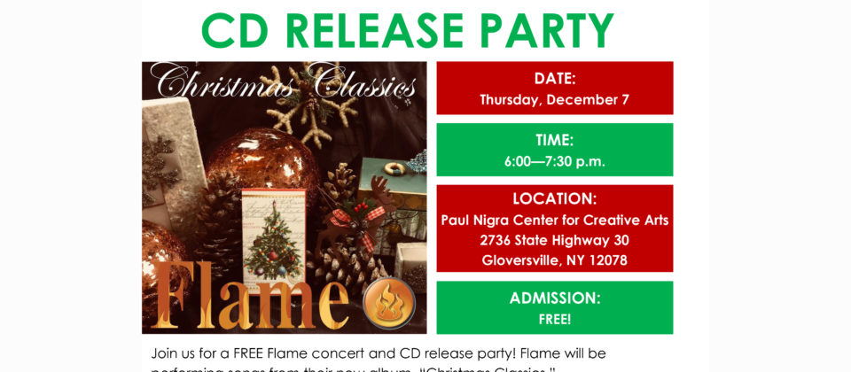 Flame CD Release Party website